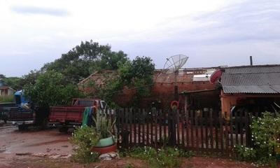 El temporal causa cuantiosos daños en distrito de Yby Yaú