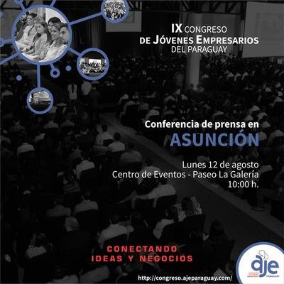Lanzan el noveno Congreso de Jóvenes Empresarios del Paraguay