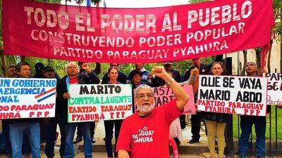 Este gobierno es entreguista y vende patria, dice Paraguay Pyahura
