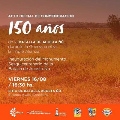 Inaugurarán monumento en honor a los niños mártires de Acosta Ñu