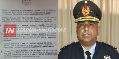 TRAS EXCELENTE GESTIÓN EN JEFATURA DE ITAPÚA BARUA PASA A RETIRO