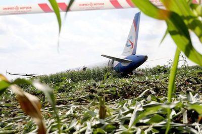 Avión ruso efectúa aterrizaje de emergencia en campo de maíz