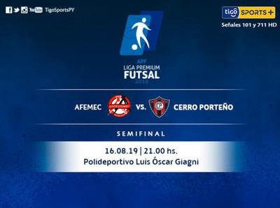 Cerro Porteño y Afemec van por el primer paso a la final