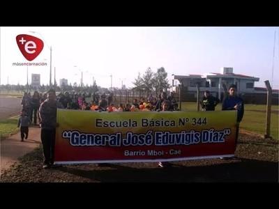 CON CORRECAMINATA, CELEBRAN 70 AÑOS DE LA ESCUELA JOSÉ E. DIAZ