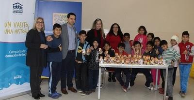 Tetra Pak dona 200 litros de leche a la Fundación Dequení
