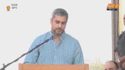 Mario Abdo ratificó responsabilidad del Estado con obras viales en el Chaco