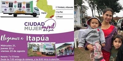 CIUDAD MUJER MÓVIL SE ALISTA PARA TRASLADARSE AL DEPARTAMENTO DE ITAPÚA