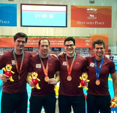 Paraguay conquistó medalla de oro en natación master