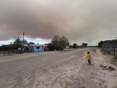 Incendio afecta al pantanal paraguayo