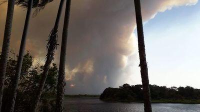 Incendio forestal en Bolivia también podría afectar a reserva Tres Gigantes