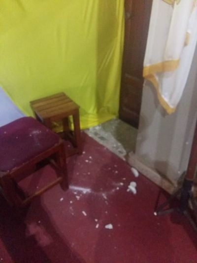 Actos vandálicos en una Iglesia de Cnel. Oviedo