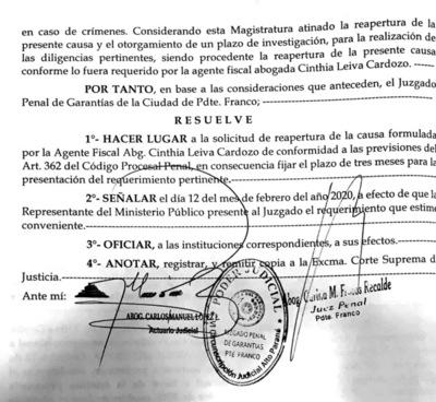 Juzgado concede reapertura de causa que involucra a Bartola Fernández