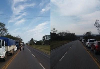 Tomateros cierran ruta por tiempo indefinido; conductores en largas filas ya están impacientes