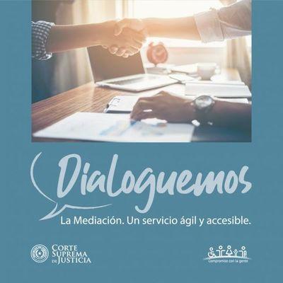 """Campaña """"Dialoguemos"""" busca difundir las ventajas del servicio de Mediación"""