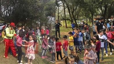 OLIMPISTAS DE CNEL. BOGADO FESTEJARON DÍA DEL NIÑO EN UNA ZONA RURAL DEL DISTRITO