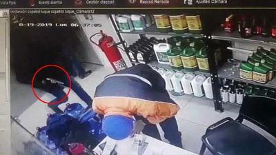 En tres minutos: Así fue el asalto de estación de servicio en Luque