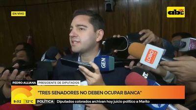 Diputados colorados archivan hoy juicio político a Marito