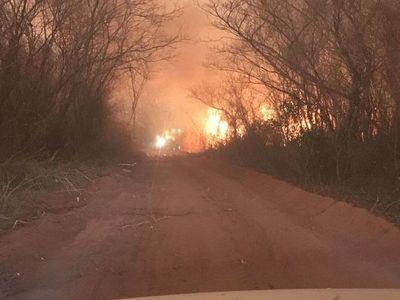 No paran los incendios forestales en Alto Paraguay