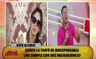 Fuerte pelea entre Ruth Alcaráz y Pianito