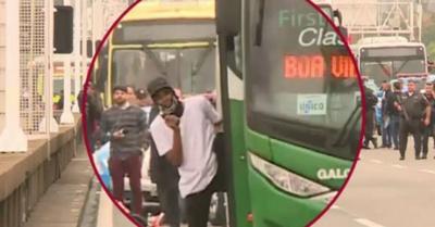 Secuestró bus y a pasajeros