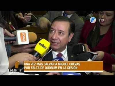Una vez más salvan a Miguel Cuevas del desafuero