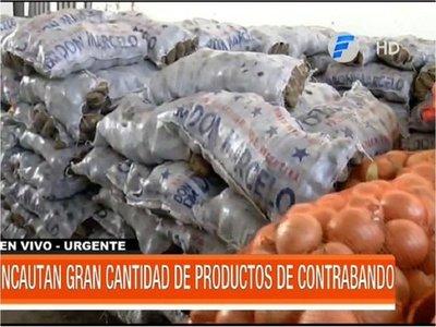 Incautan más de 700 bolsas de productos frutihortícolas