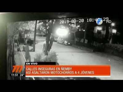 Así asaltaron a 4 jóvenes en Ñemby