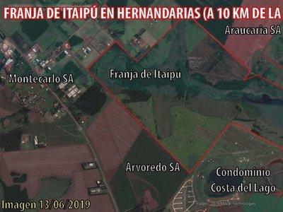 Impune deforestación en franja de Itaipú a menos de 10 km de usina