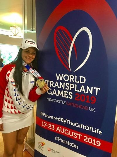 Tatiana Benítez se consagra bicampeona en Mundial de Deportistas Trasplantados