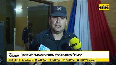 Dos viviendas fueron robadas en Ñemby