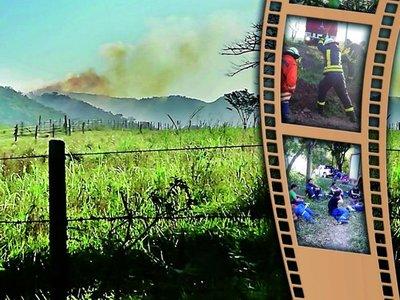 El fuego afecta gran parte de Cordillera del Ybytyruzú, en Guairá