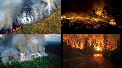 No todas las fotos corresponden a los incendios del Amazonas