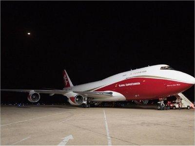 El avión Supertanker llegó a Bolivia para combatir incendios