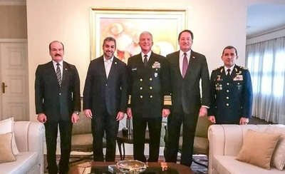 HOY / Abdo recibió al jefe de milicia de EEUU para abordar terrorismo