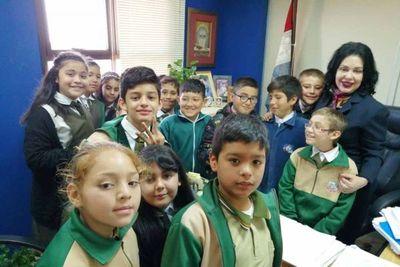 Alumnos de la Escuela El Gran Maestro, visitaron Palacio de San Lorenzo