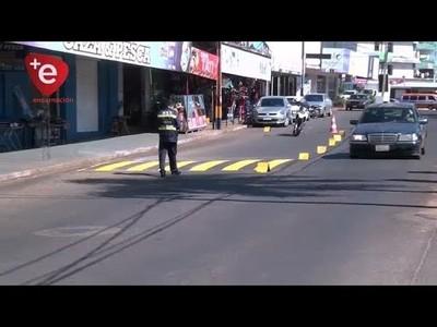 ENCARNACIÓN: SEÑALIZAN CALLES DE LA CIUDAD