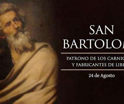 Hoy es la fiesta de San Bartolomé, Apóstol de Cristo.