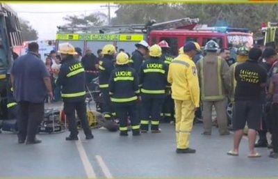 Accidente de tránsito en Luque deja un fallecido y 8 heridos