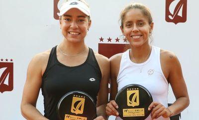 Montse, campeona en dobles junto con Noelia Zeballos