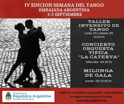 """Semana del Tango invita al concierto de la Orquesta Típica """"La Caterva"""""""