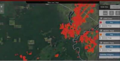 HOY / Imagen satelital detecta 418 nuevos focos de peligro de incendio en todo el país
