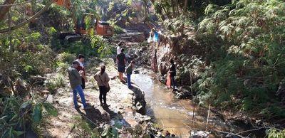 Prosigue limpieza del arroyo San Lorenzo