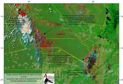 Persiste peligro de avance de incendios hacia Paraguay en varias zonas