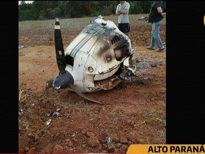 Aeronave cayó en estancia de San Cristóbal