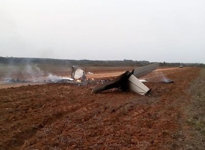 Avioneta cayó en estancia de Tranquilino Favero