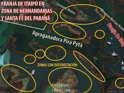 Ganaderas deforestaron bosques de la Itaipú con y sin su autorización