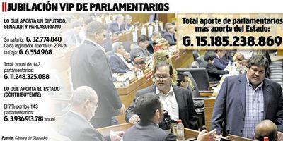 Ciudadanos seguirán pagando la jubilación vip de los parlamentarios