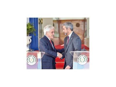 Marito y Piñera  hablaron de tratado de libre comercio