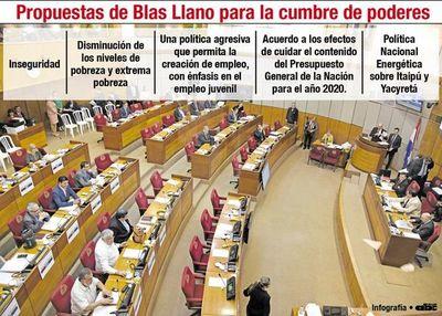 Llano pide a Marito  cumbre de poderes contra la recesión
