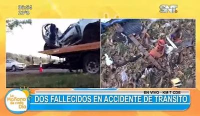 Accidente deja dos muertos en CDE